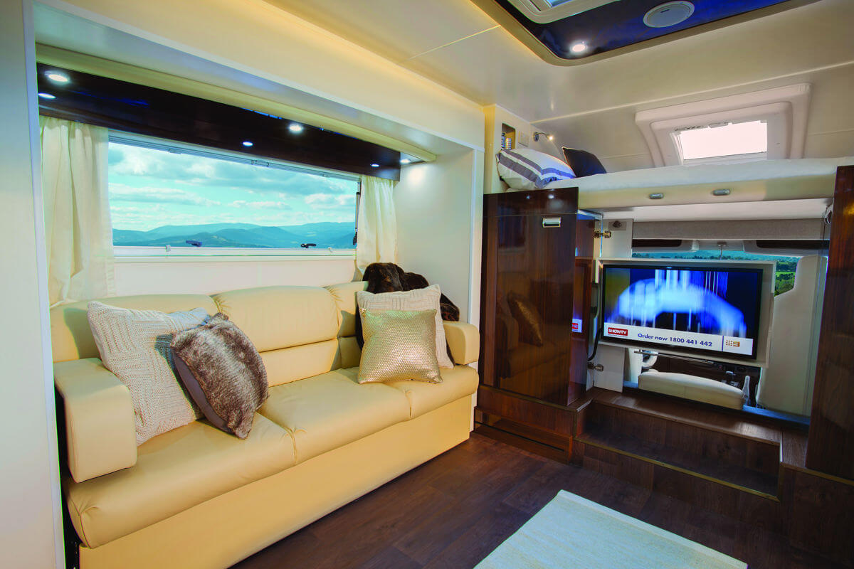 Sunliner Monte Carlo Motorhome interior with television
