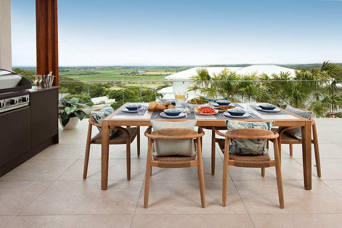 Hans Wegner inspired chairs Endeavour Prize Home Maroochy River Sunshine Coast