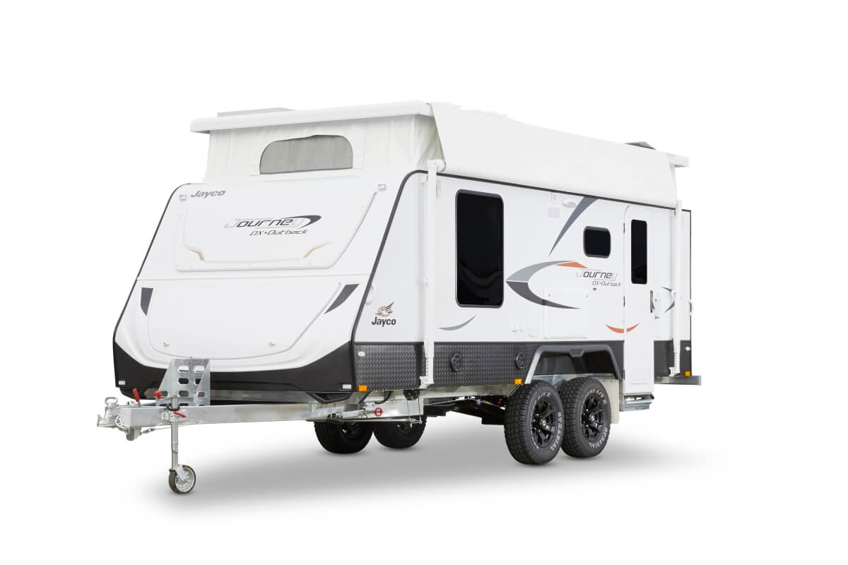 The Journey Deluxe comes in at the top of Jayco's pop top range