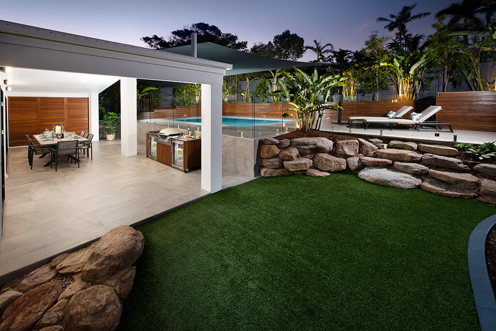 Image of Pavilion and pool area of Endeavour Prize Home 420 Yaroomba Sunshine Coast