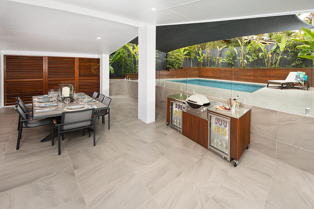 Photo of outdoor alfresco area in Endeavour Prize Home 420 Yaroomba Sunshine Coast