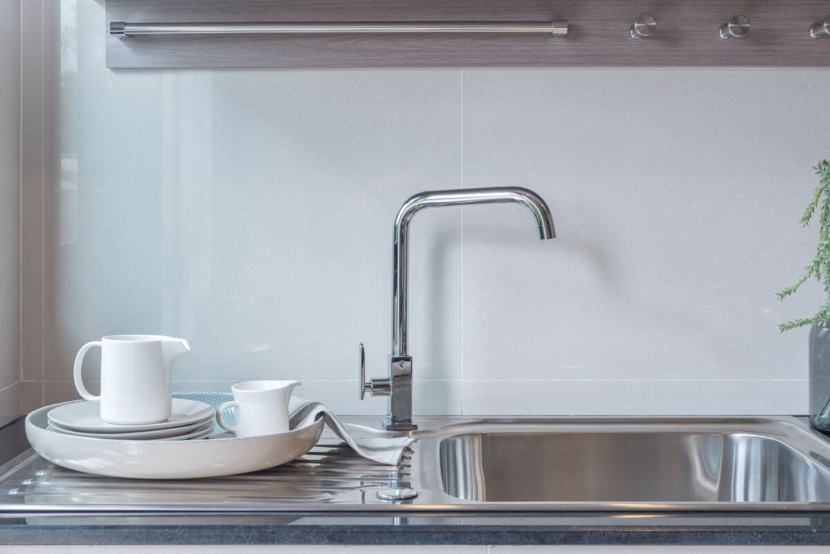 Photo of a sink in a butler's pantry
