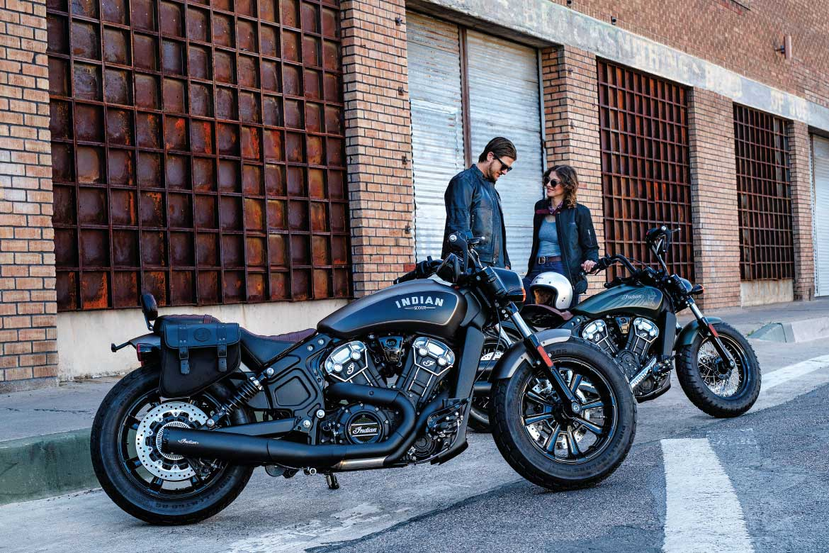2x Indian Scout Motorcycles