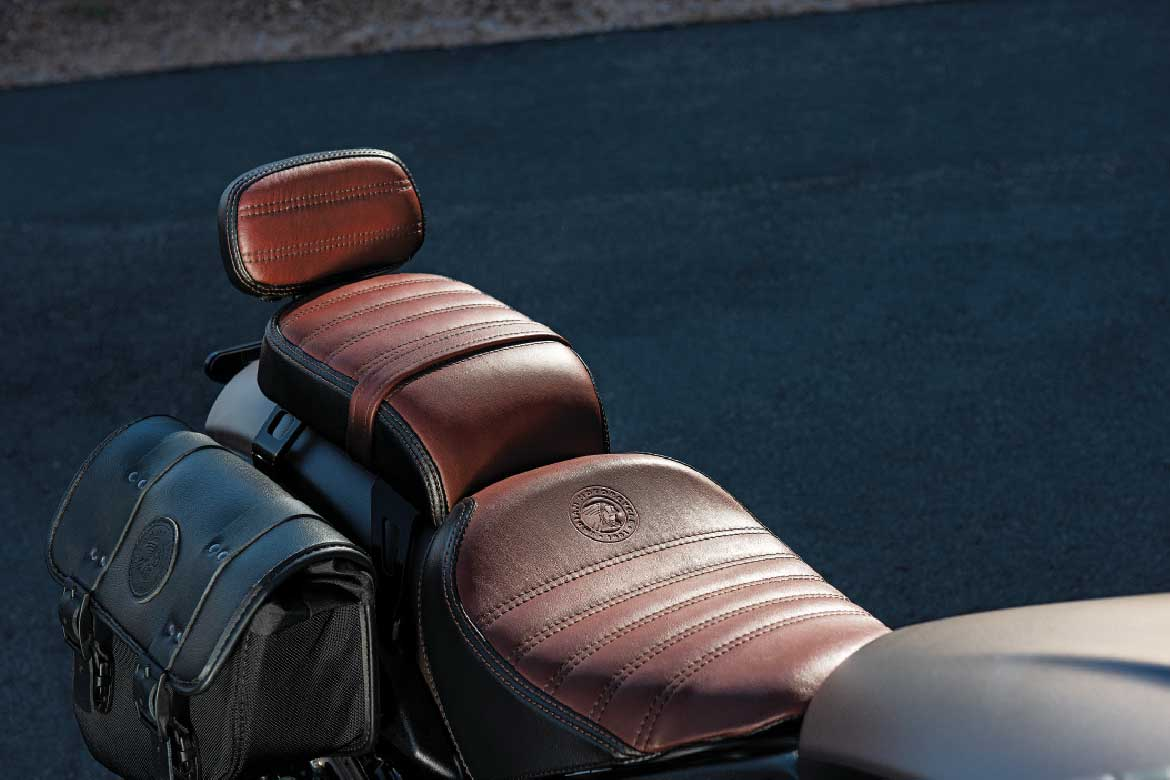 Indian Scout Motorcycles leather seat