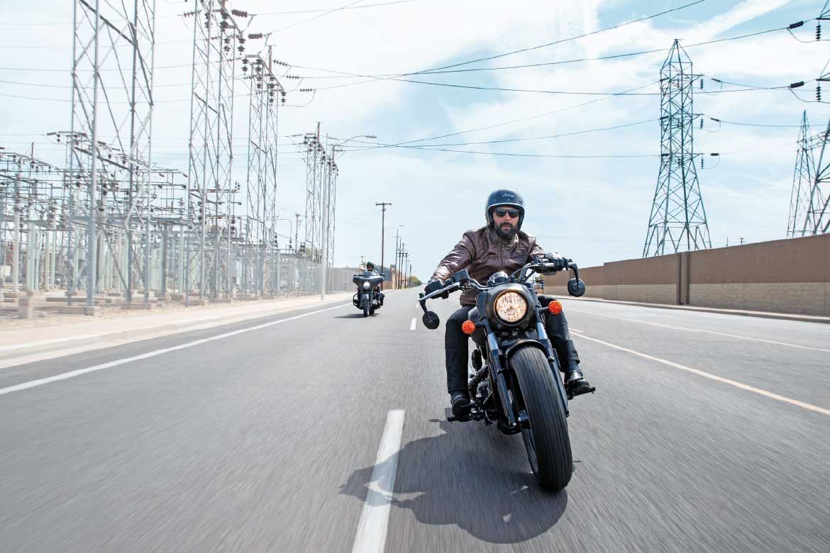 Indian Scout Motorcycles on the road