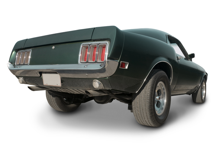 Late 1960's Mustang Muscle Car exhaust system
