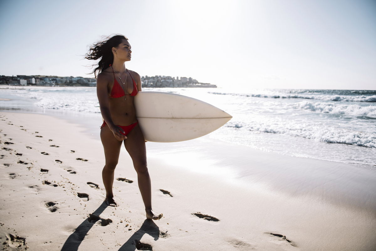 Girl with surboard